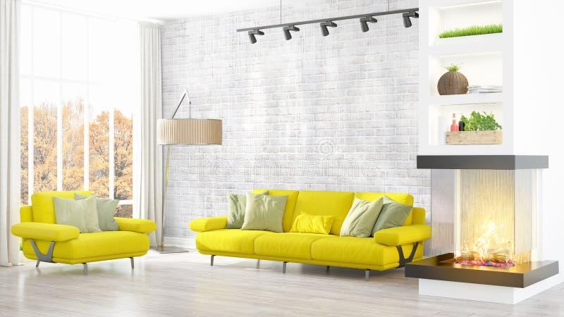 Download Intérieur Lumineux Moderne Rendu 3d Illustration Stock - Illustration du vieux, appartement: 87700638