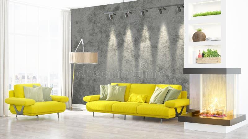 Download Intérieur Lumineux Moderne Rendu 3d Illustration Stock - Illustration du vide, conception: 87700668