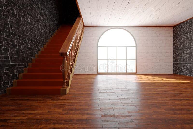 Intérieur luxueux avec l'avant d'escalier photo stock