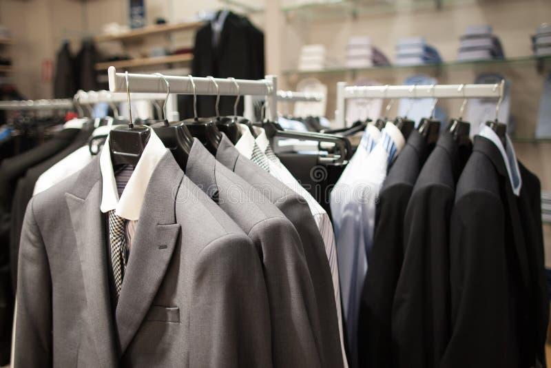 Intérieur masculin de magasin de mode image libre de droits