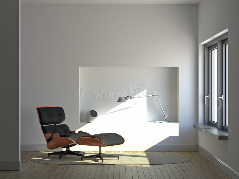 Intérieur minimaliste tranquille illustration libre de droits