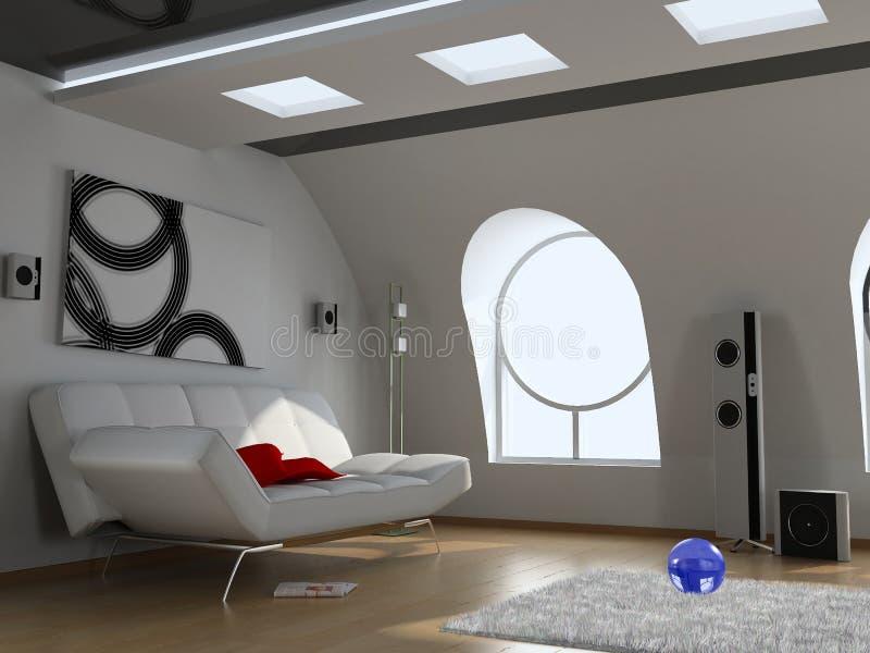 Intérieur moderne illustration de vecteur
