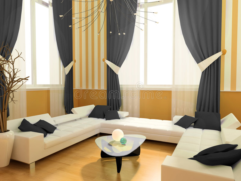 Intérieur moderne illustration stock