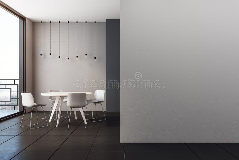 Intérieur moderne avec la salle à manger images stock