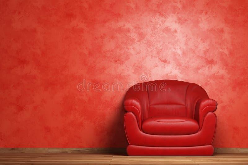 Intérieur moderne avec le fauteuil illustration de vecteur