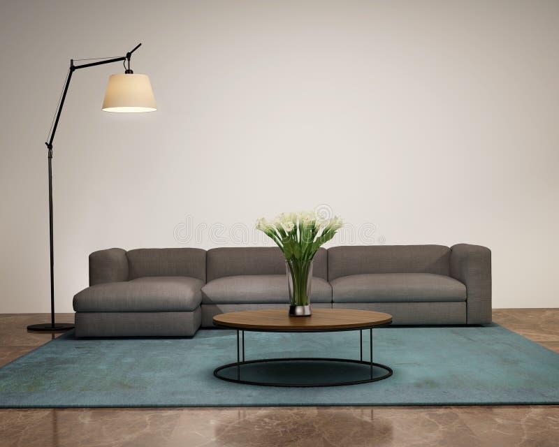 Int rieur moderne avec une chemin e dans le salon image for Cheminee interieur moderne