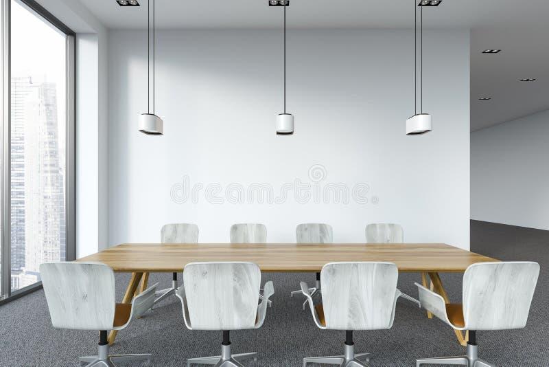 Intérieur moderne blanc de lieu de réunion de bureau illustration stock