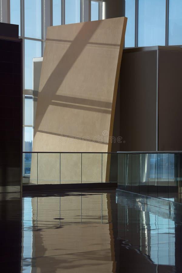 Intérieur moderne d'aéroport images stock