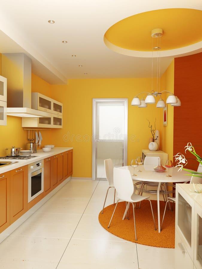 Intérieur moderne de cuisine illustration stock