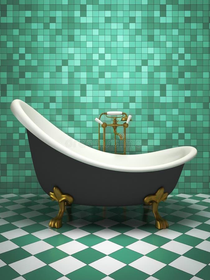 Intérieur moderne de la salle de bains illustration libre de droits