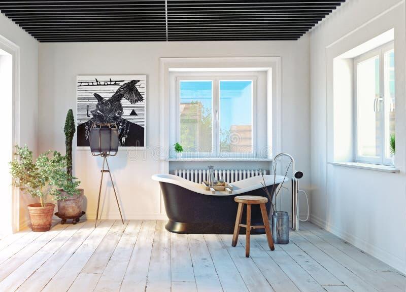 Intérieur moderne de salle de bains illustration stock