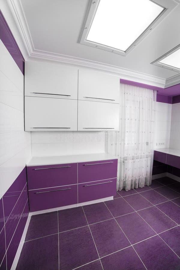 Intérieur moderne de salle de bains avec un panneau de mosaïque images libres de droits