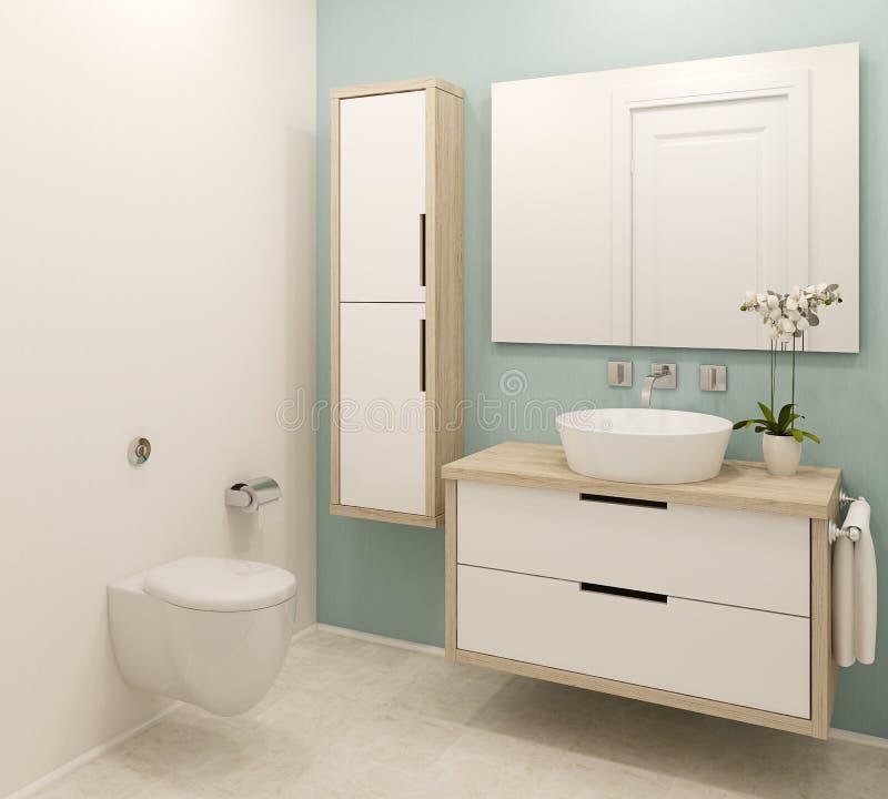 Intérieur moderne de salle de bains illustration libre de droits