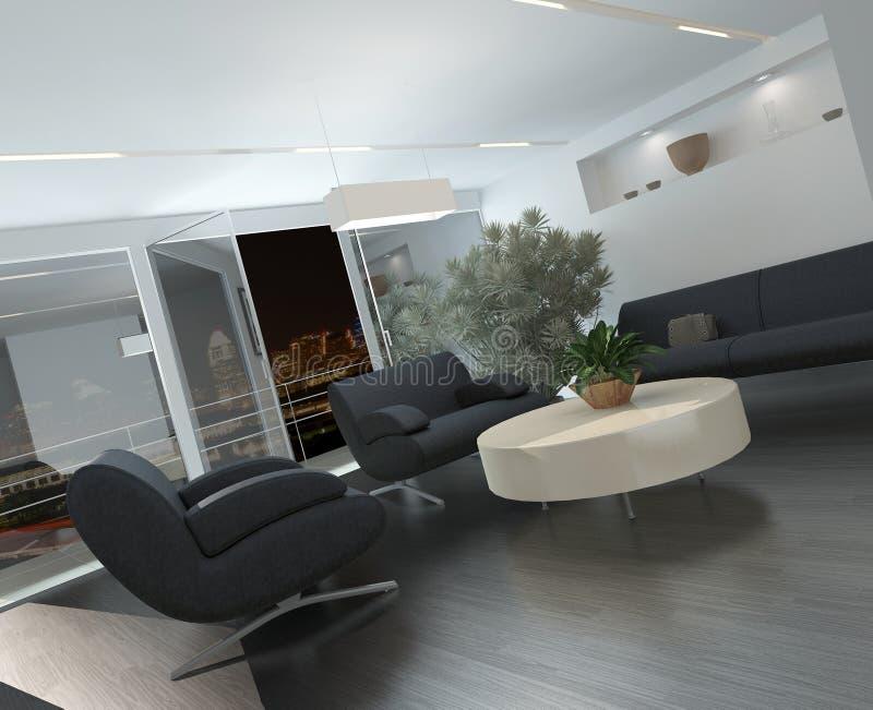 Intérieur moderne de salon ou de salle d'attente illustration de vecteur