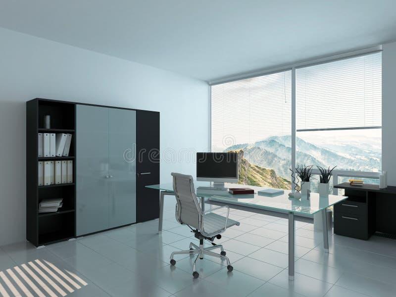 Intérieur moderne de siège social avec le bureau illustration