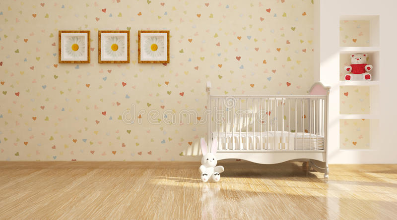 intérieur moderne minimal de pépinière. photographie stock libre de droits