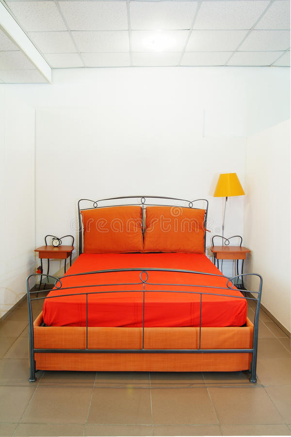 Intérieur orange photographie stock