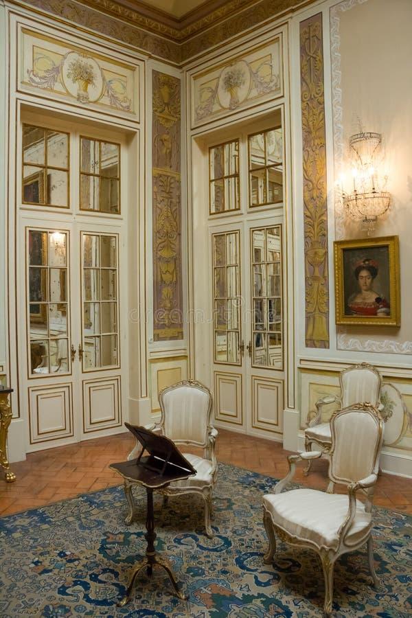 Intérieur. Palais national. Queluz. Portugal photographie stock