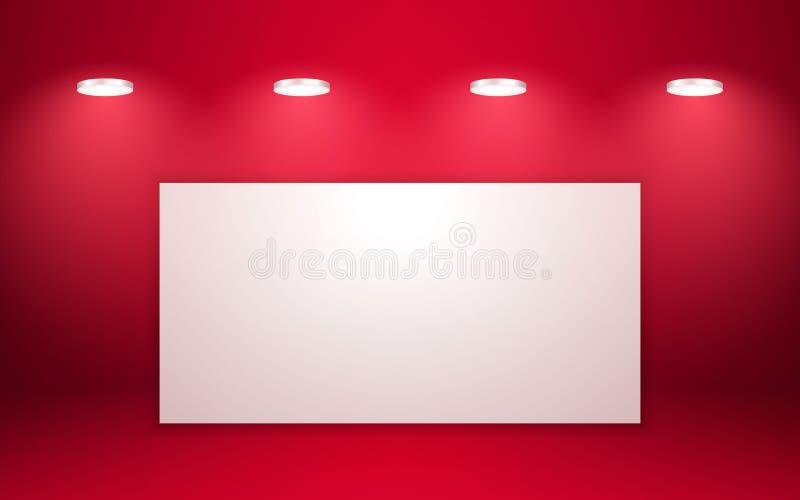 Intérieur rouge vide de pièce de studio Nettoyez l'atelier pour la photographie ou la présentation Illustration de vecteur illustration libre de droits