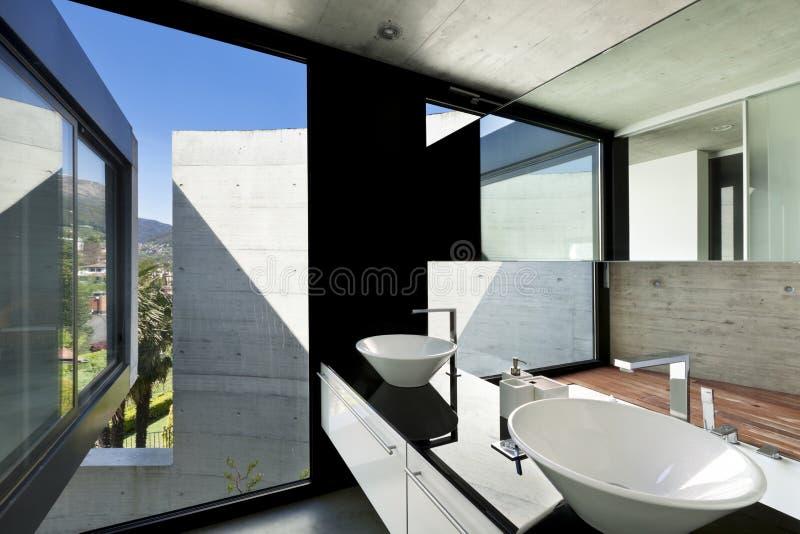 Intérieur, salle de bains photographie stock