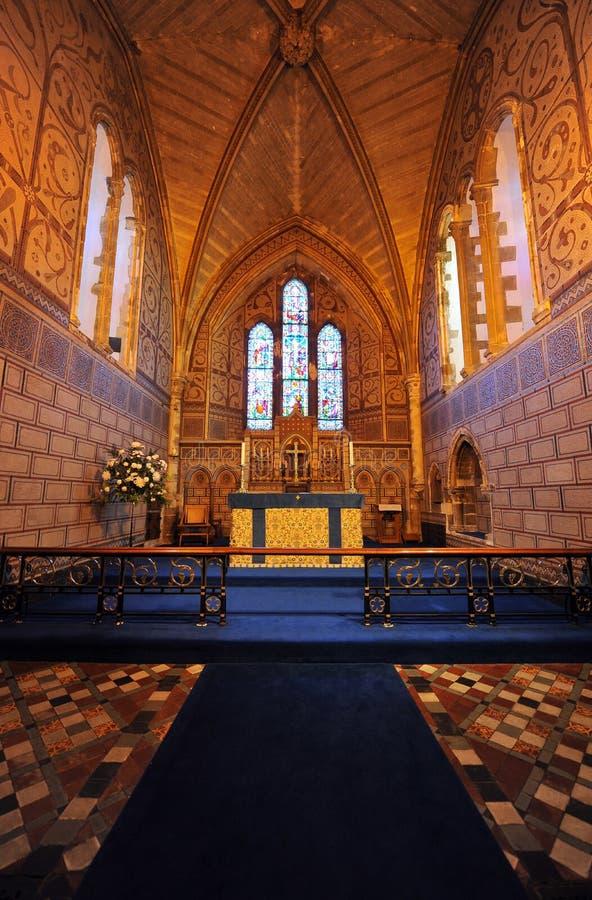 Intérieur saxon d'église de château de Douvres image stock