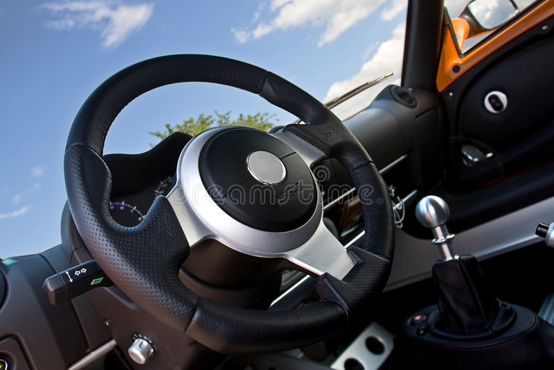 Intérieur sportscar compact image stock