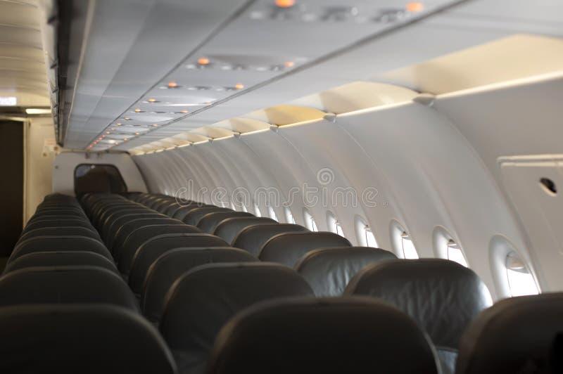 Intérieur un avion vide images libres de droits