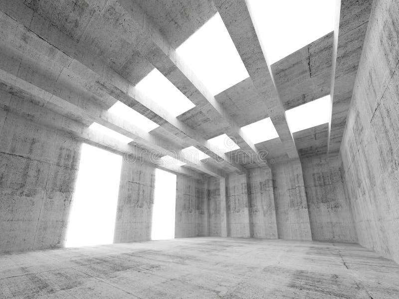 Intérieur vide abstrait du béton 3d illustration de vecteur