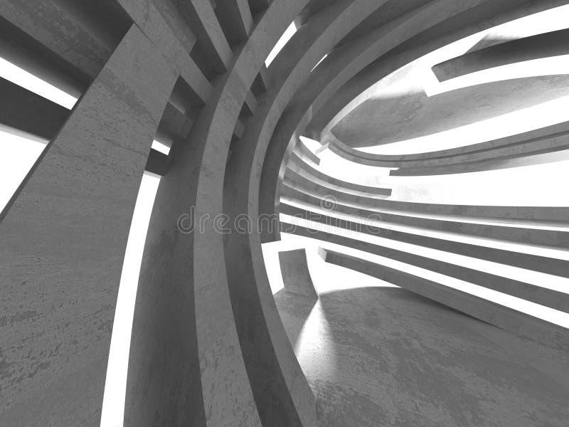Intérieur vide de pièce de sous-sol sombre Murs en béton illustration de vecteur