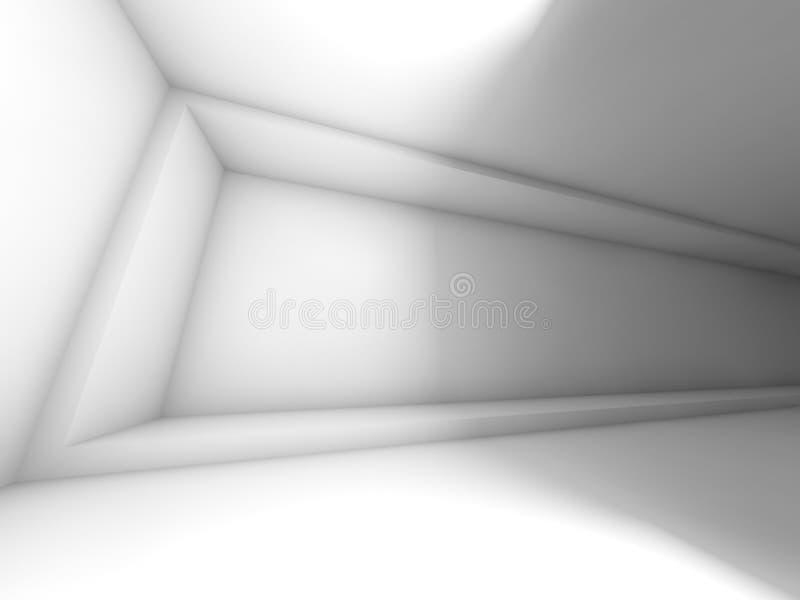 Intérieur vide large abstrait de pièce 3d illustration stock