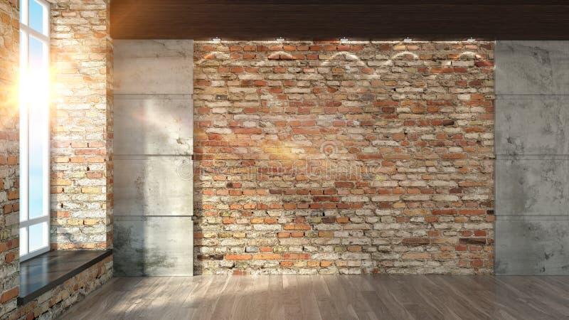 Intérieur vide moderne illustration de vecteur
