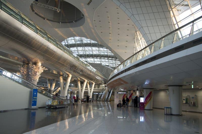 Intérieurs d'aéroport d'Incheon image stock