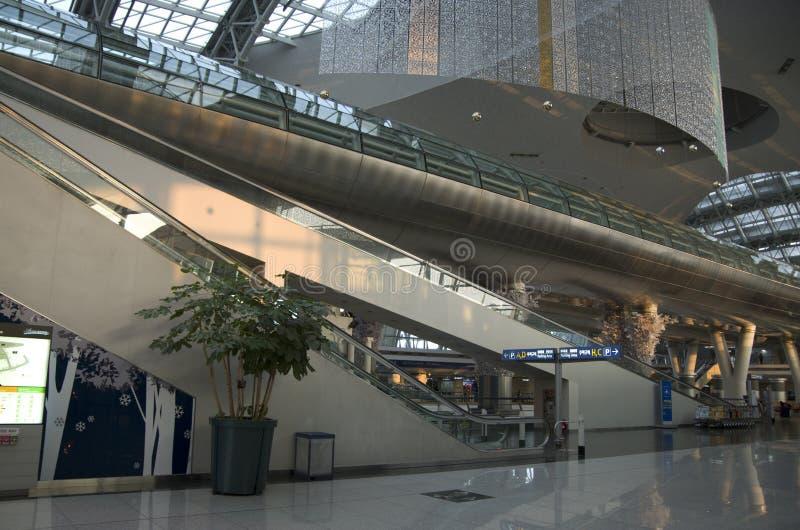 Intérieurs d'aéroport d'Incheon images libres de droits