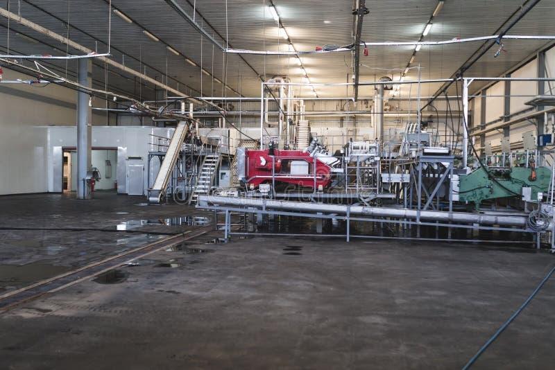 Intérieurs d'usine d'aliments surgelés image libre de droits