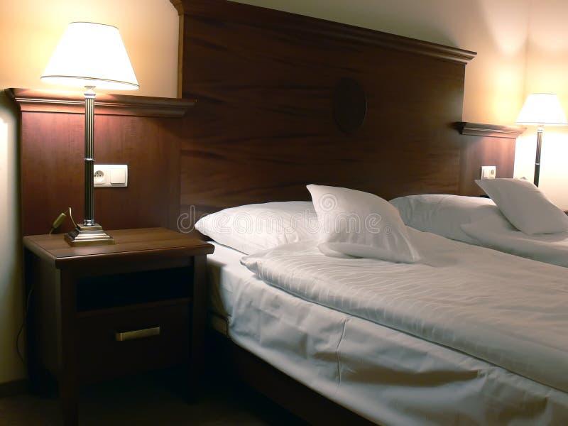 intérieurs de chambre à coucher photographie stock