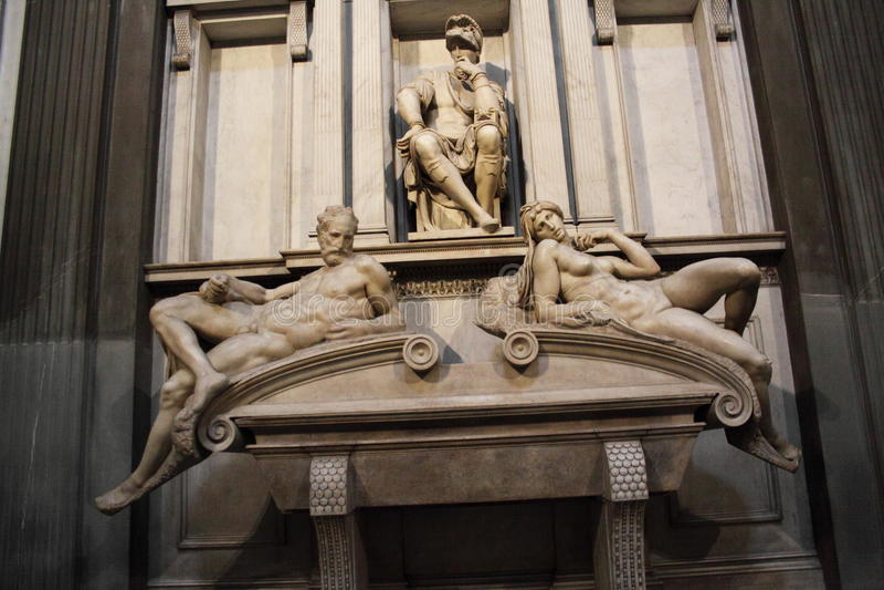 Intérieurs de chapelle de Medici, Florence image libre de droits
