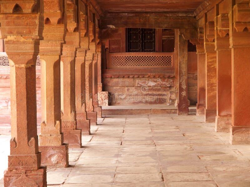 Intérieurs de Fatehpur Sikri, Inde photos libres de droits