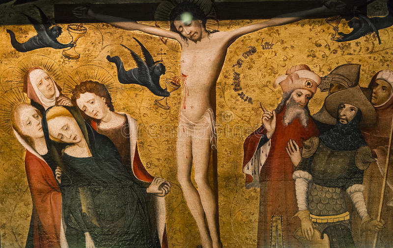 Intérieurs de la cathédrale de Salvator de saint, Bruges, Belgique photos stock