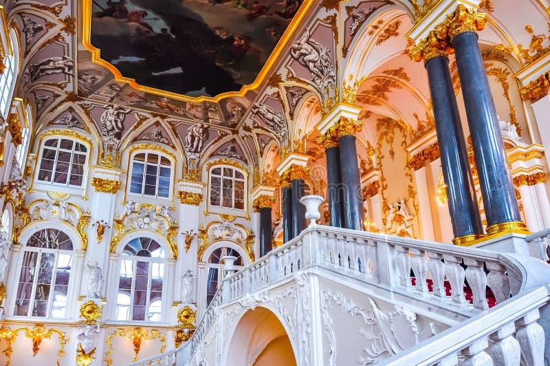 Intérieurs de musée d'ermitage d'état, St Petersburg, Russie photographie stock libre de droits