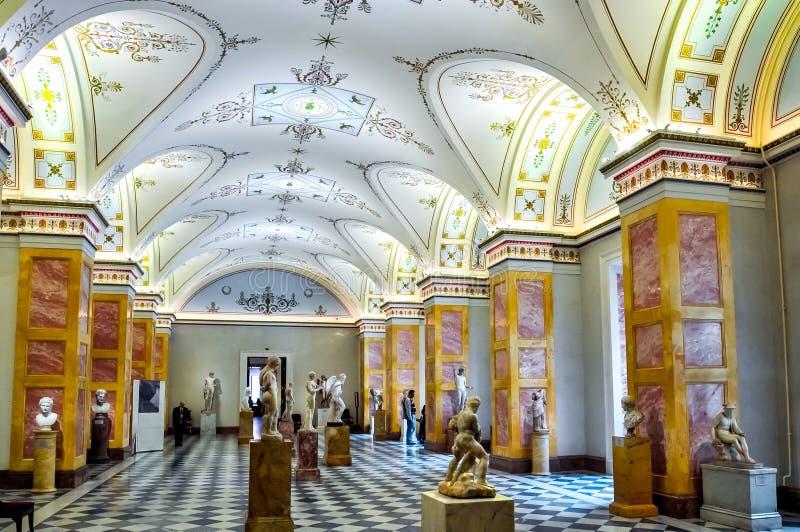 Intérieurs de musée d'ermitage d'état, St Petersburg, Russie photo stock