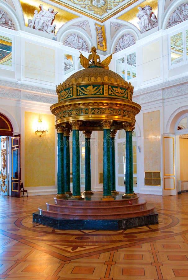 Intérieurs du palais d'hiver photo libre de droits