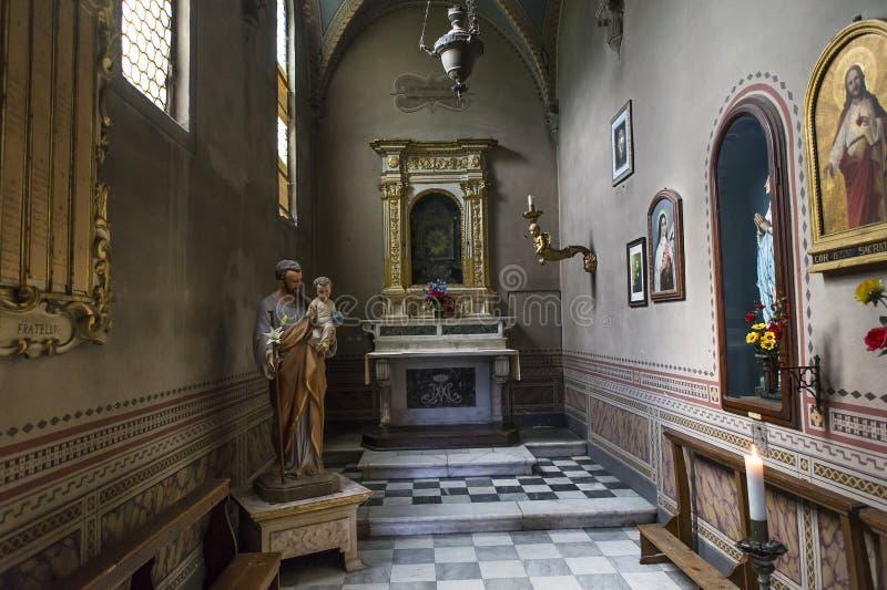Intérieurs et détails de charterhouse de Pise, Pise, Italie image libre de droits