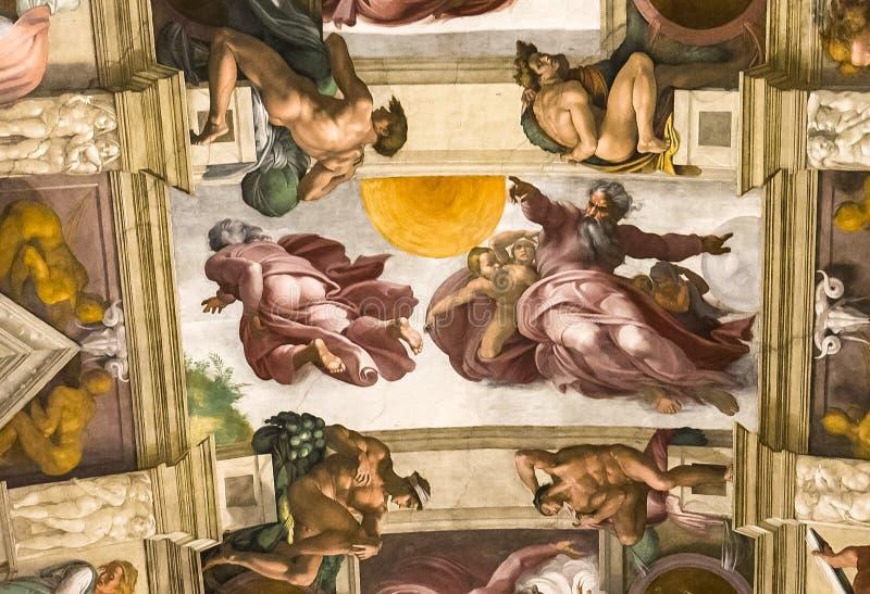 Intérieurs et détails de la chapelle de Sistine, Ville du Vatican photographie stock libre de droits