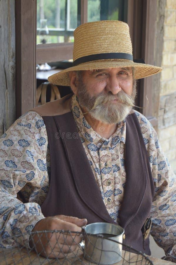 Intérprete masculino no Velho Mundo Wisconsin imagens de stock royalty free