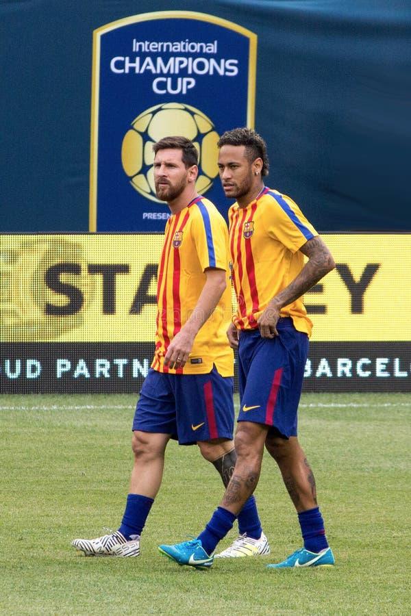 ` 2017 Int l FC Barcelona чашки чемпионов против Juventus стоковые изображения
