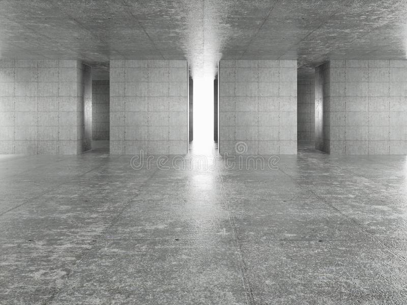 Int?rieur abstrait d'architecture illustration stock