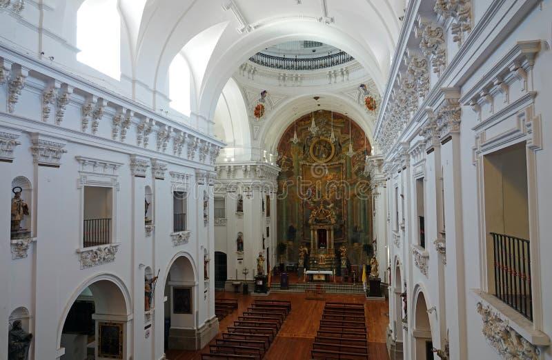 Int?rieur d'?glise de San Illdefonso ? Toledo, Espagne images libres de droits