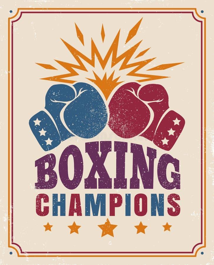 Intage plakat dla boksu royalty ilustracja