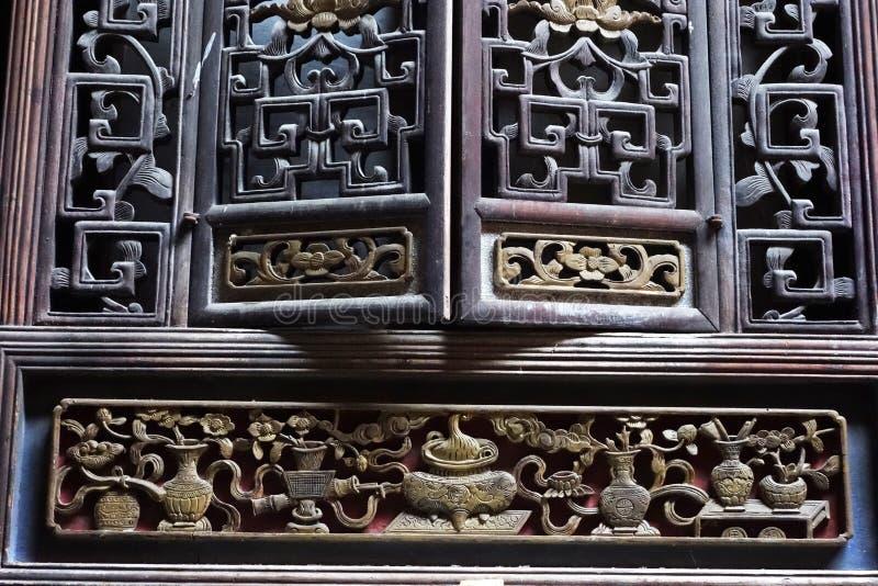 Intaglio del legno cinese fotografie stock libere da diritti