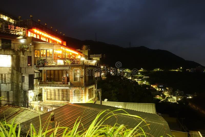 InTaipei Jiufen för scenisk fläck royaltyfria foton